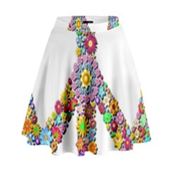 Groovy Flower Clip Art High Waist Skirt by Nexatart