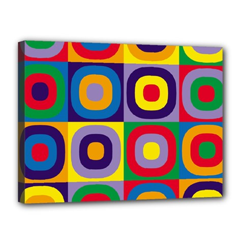 Kandinsky Circles Canvas 16  X 12  by Nexatart