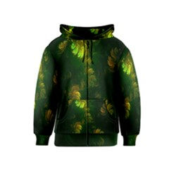 Light Fractal Plants Kids  Zipper Hoodie