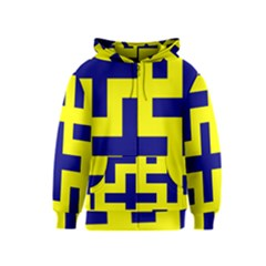 Pattern Blue Yellow Crosses Plus Style Bright Kids  Zipper Hoodie