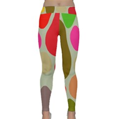 Pattern Design Abstract Shapes Classic Yoga Leggings
