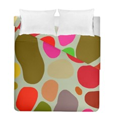 Pattern Design Abstract Shapes Duvet Cover Double Side (full/ Double Size) by Nexatart