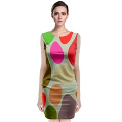 Pattern Design Abstract Shapes Classic Sleeveless Midi Dress