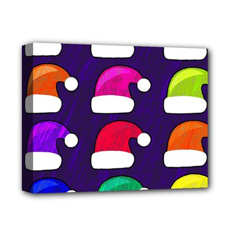 Santa Hats Santa Claus Holidays Deluxe Canvas 14  X 11