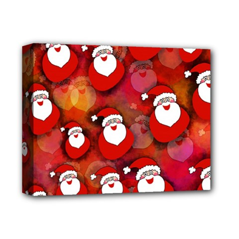 Seamless Santa Tile Deluxe Canvas 14  X 11