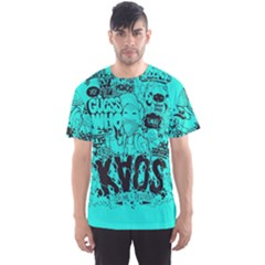 Typography Illustration Chaos Men s Sport Mesh Tee