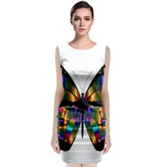 Abstract Animal Art Butterfly Classic Sleeveless Midi Dress