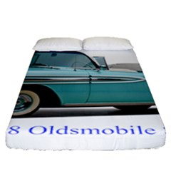 1958 Oldsmobile Super 88 J2 2a Fitted Sheet (queen Size) by Jeannel1