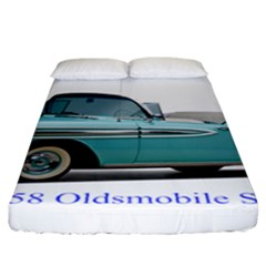 1958 Oldsmobile Super 88 J2 2a Fitted Sheet (california King Size) by Jeannel1