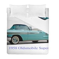 1958 Oldsmobile Super 88 J2 2a Duvet Cover Double Side (Full/ Double Size) by Jeannel1