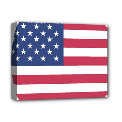 American Flag Deluxe Canvas 14  X 11