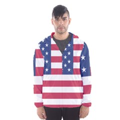 American Flag Hooded Wind Breaker (men)