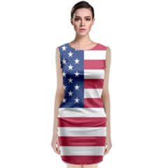 American Flag Classic Sleeveless Midi Dress