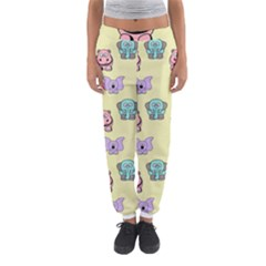 Animals Pastel Children Colorful Women s Jogger Sweatpants by Nexatart