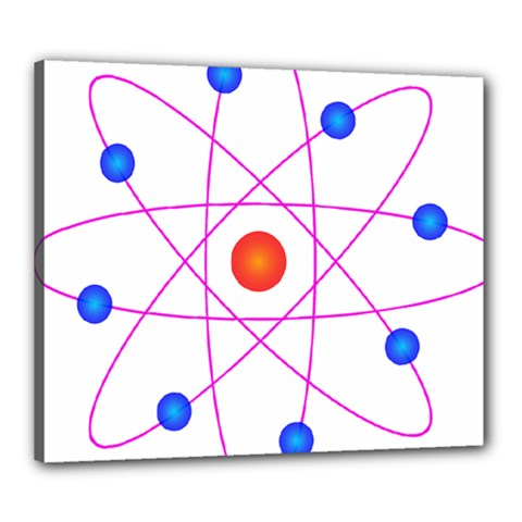 Atom Model Vector Clipart Canvas 24  X 20  by Nexatart