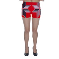 Backdrop Background Pattern Skinny Shorts