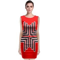 Backdrop Background Pattern Classic Sleeveless Midi Dress