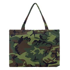 Camouflage Green Brown Black Medium Tote Bag