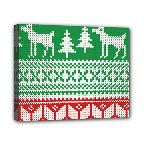 Christmas Jumper Pattern Canvas 10  X 8  by Nexatart