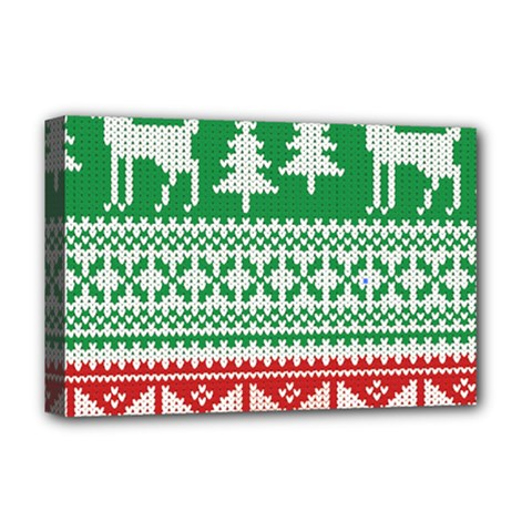 Christmas Jumper Pattern Deluxe Canvas 18  X 12