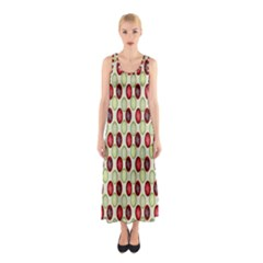 Christmas Pattern Sleeveless Maxi Dress