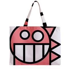 Dragon Head Pink Childish Cartoon Zipper Mini Tote Bag