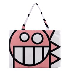 Dragon Head Pink Childish Cartoon Medium Tote Bag
