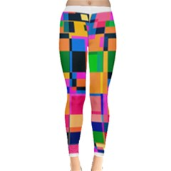 Color Focusing Screen Vault Arched Leggings  by Nexatart