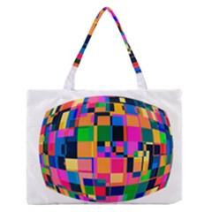 Color Focusing Screen Vault Arched Medium Zipper Tote Bag