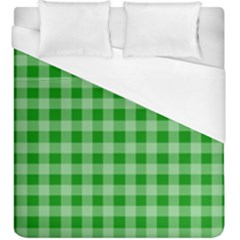 Gingham Background Fabric Texture Duvet Cover (king Size) by Nexatart
