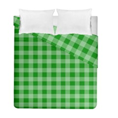 Gingham Background Fabric Texture Duvet Cover Double Side (full/ Double Size) by Nexatart