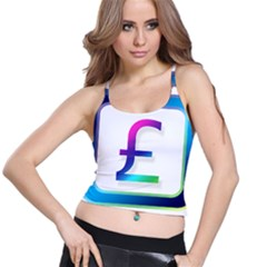Icon Pound Money Currency Symbols Spaghetti Strap Bra Top