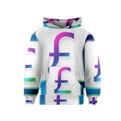 Icon Pound Money Currency Symbols Kids  Pullover Hoodie