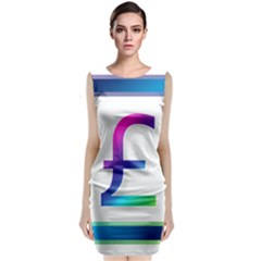 Icon Pound Money Currency Symbols Classic Sleeveless Midi Dress