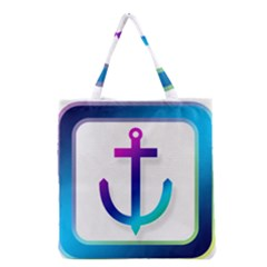 Icon Anchor Containing Fixing Grocery Tote Bag by Nexatart