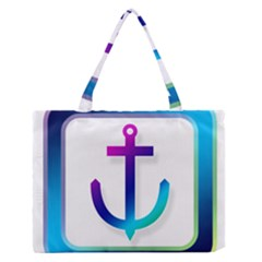 Icon Anchor Containing Fixing Medium Zipper Tote Bag