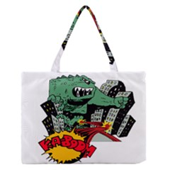 Monster Medium Zipper Tote Bag