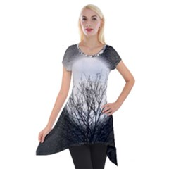 Starry Sky Short Sleeve Side Drop Tunic by theunrulyartist