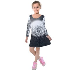 Starry Sky Kids  Long Sleeve Velvet Dress by theunrulyartist