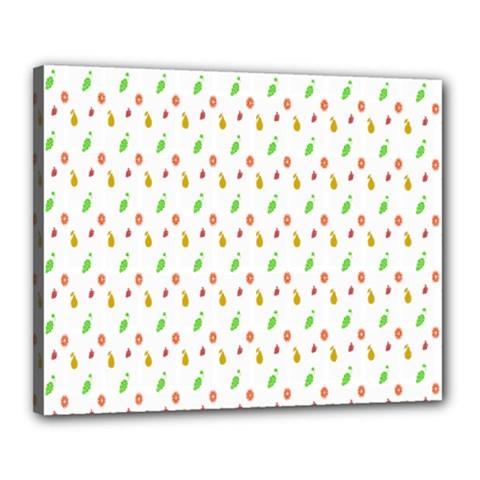 Fruit Pattern Vector Background Canvas 20  X 16  by Nexatart