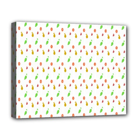 Fruit Pattern Vector Background Deluxe Canvas 20  X 16   by Nexatart