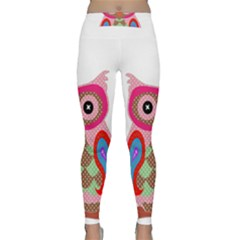 Owl Colorful Patchwork Art Classic Yoga Leggings by Nexatart