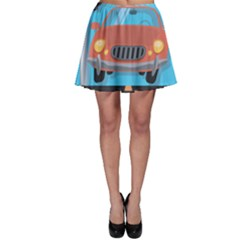Semaphore Car Road City Traffic Skater Skirt