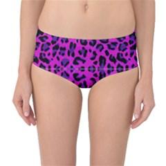 Pattern Design Textile Mid Waist Bikini Bottoms by Nexatart