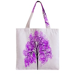Purple Tree Zipper Grocery Tote Bag by Nexatart