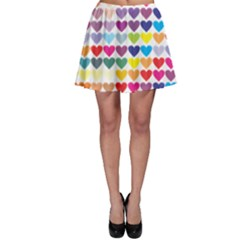 Heart Love Color Colorful Skater Skirt by Nexatart