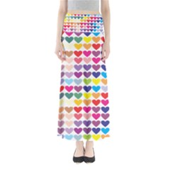 Heart Love Color Colorful Maxi Skirts by Nexatart