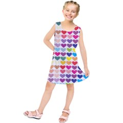 Heart Love Color Colorful Kids  Tunic Dress by Nexatart