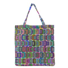 Psychedelic 70 S 1970 S Abstract Grocery Tote Bag by Nexatart