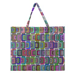 Psychedelic 70 S 1970 S Abstract Zipper Large Tote Bag by Nexatart